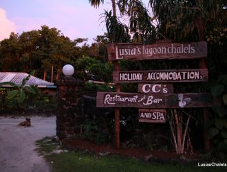 Sign for Lusia's Lagoon